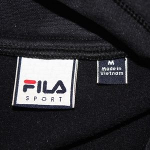 Fila Tops - Fila Sport Size M hooded black w purple quilted